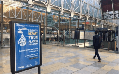 Passengers take on plastic pollution at Britain's biggest and busiest stations